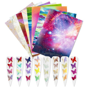 16 SET BUTTERFLY DECALS