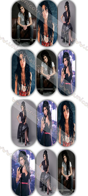 Amy Winehouse Waterslide Decals