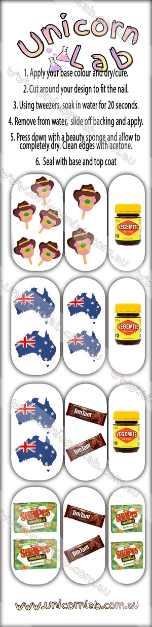 Aussie Icons Waterslide Decals - Emerson Crystals