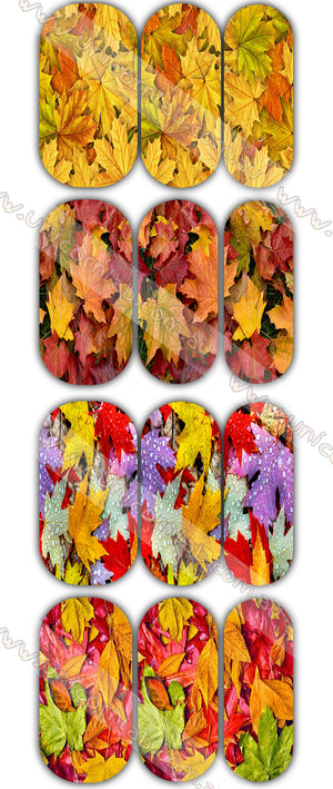 Autumn Leaves Waterslide Decals - Emerson Crystals