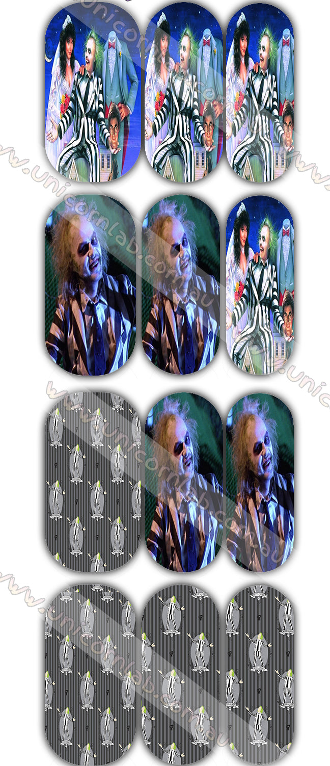 Beetlejuice Waterslide Decals