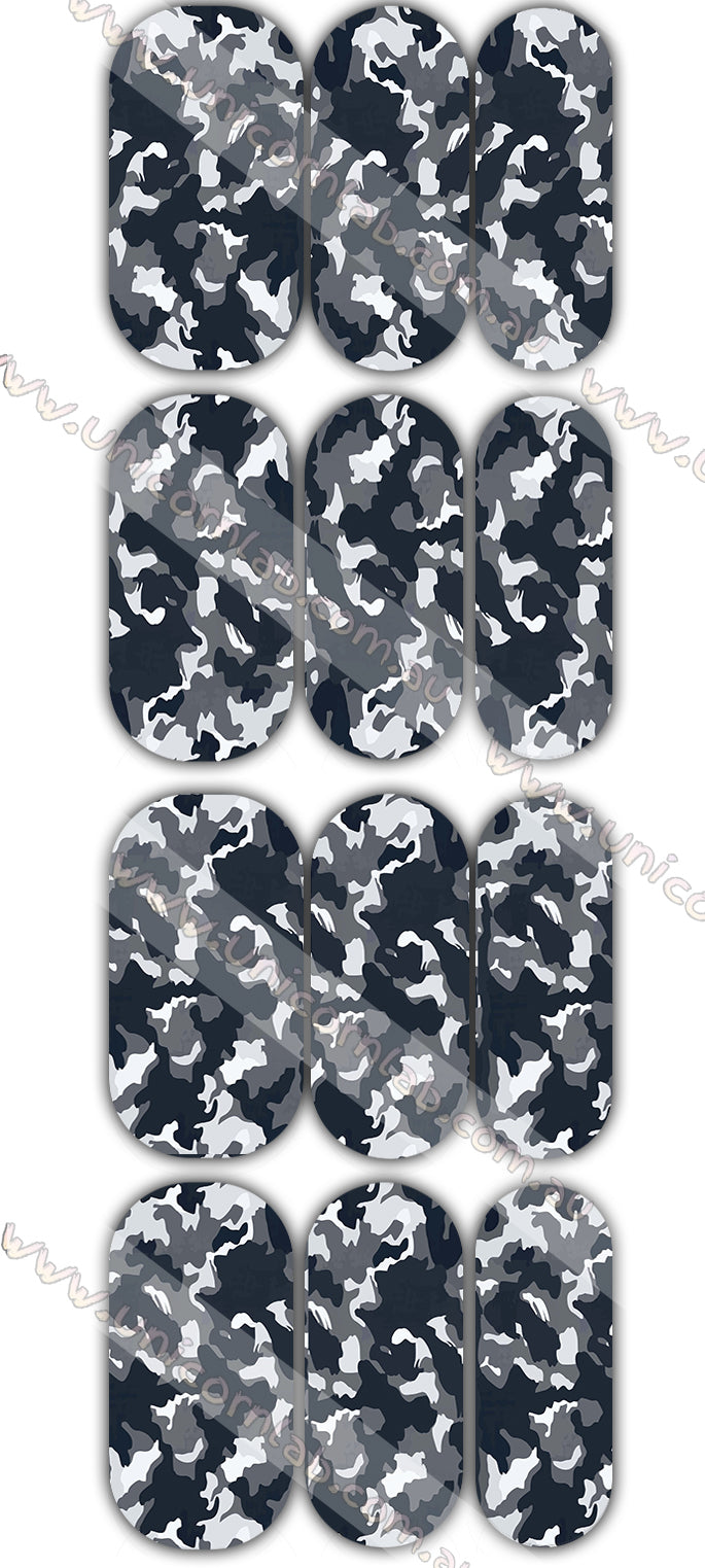 Black Camo Waterslide Decals - Emerson Crystals
