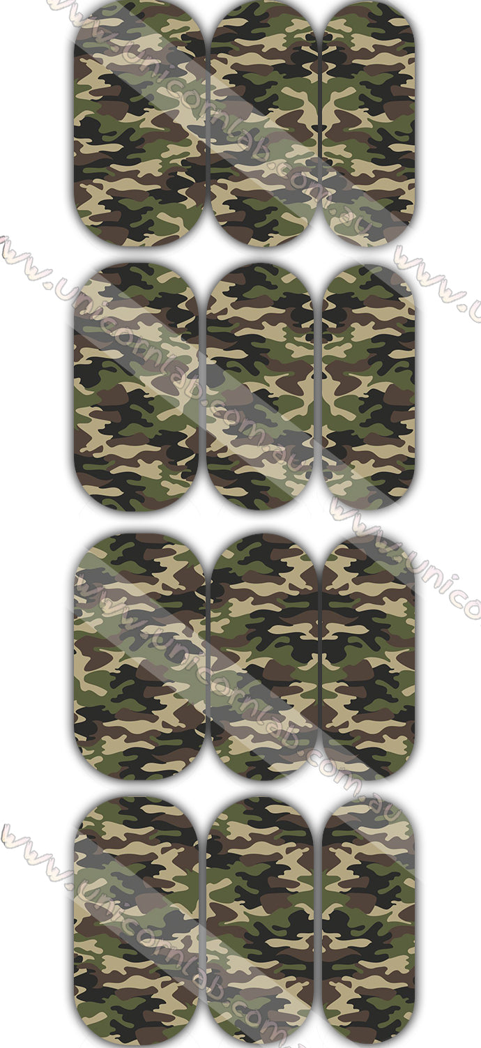 Brown Camo Waterslide Decals - Emerson Crystals