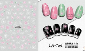 Nail Sticker - Design CA186 - Emerson Crystals