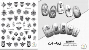 Nail Sticker - Design CA485 - Emerson Crystals