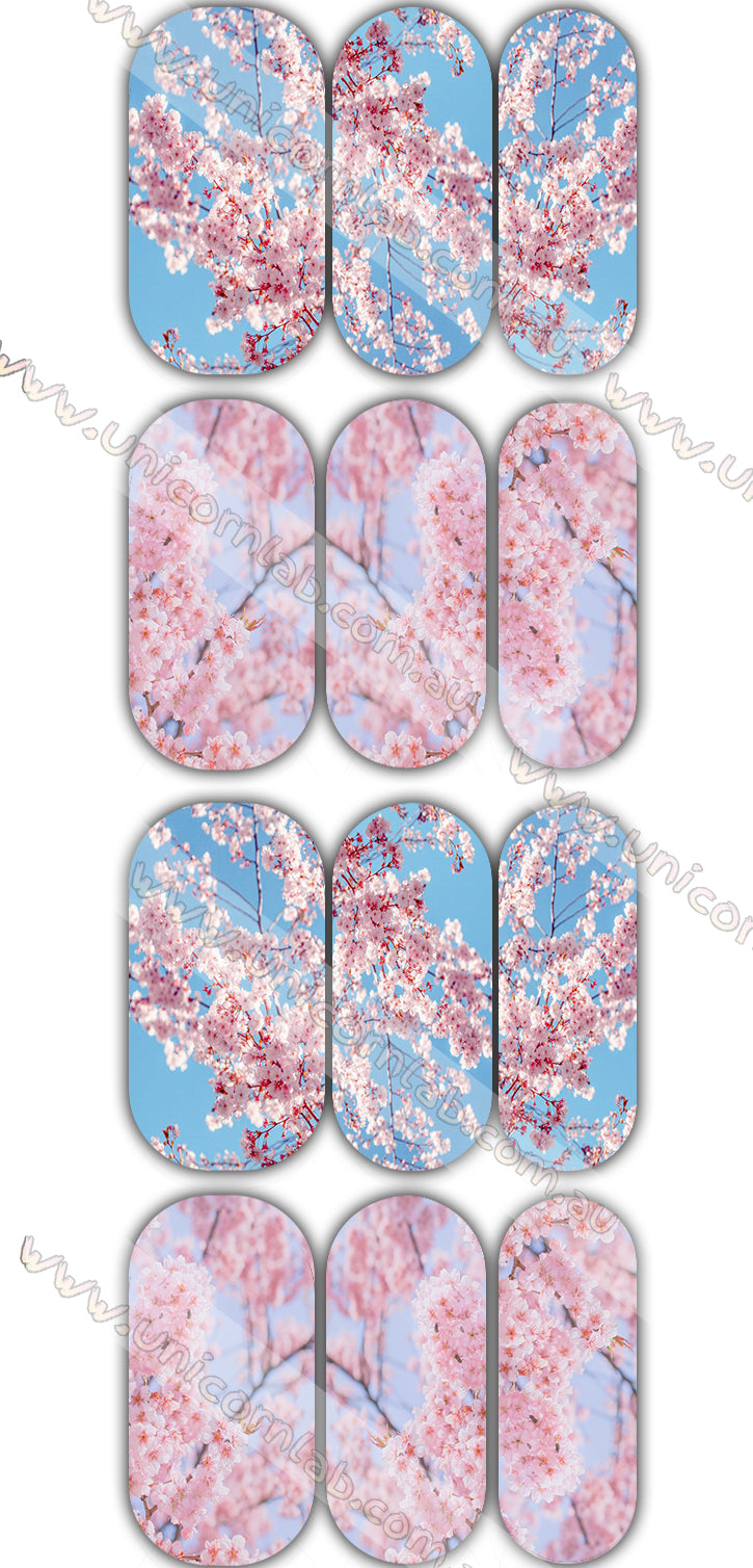 Cherry Blossom Waterslide Decals - Emerson Crystals