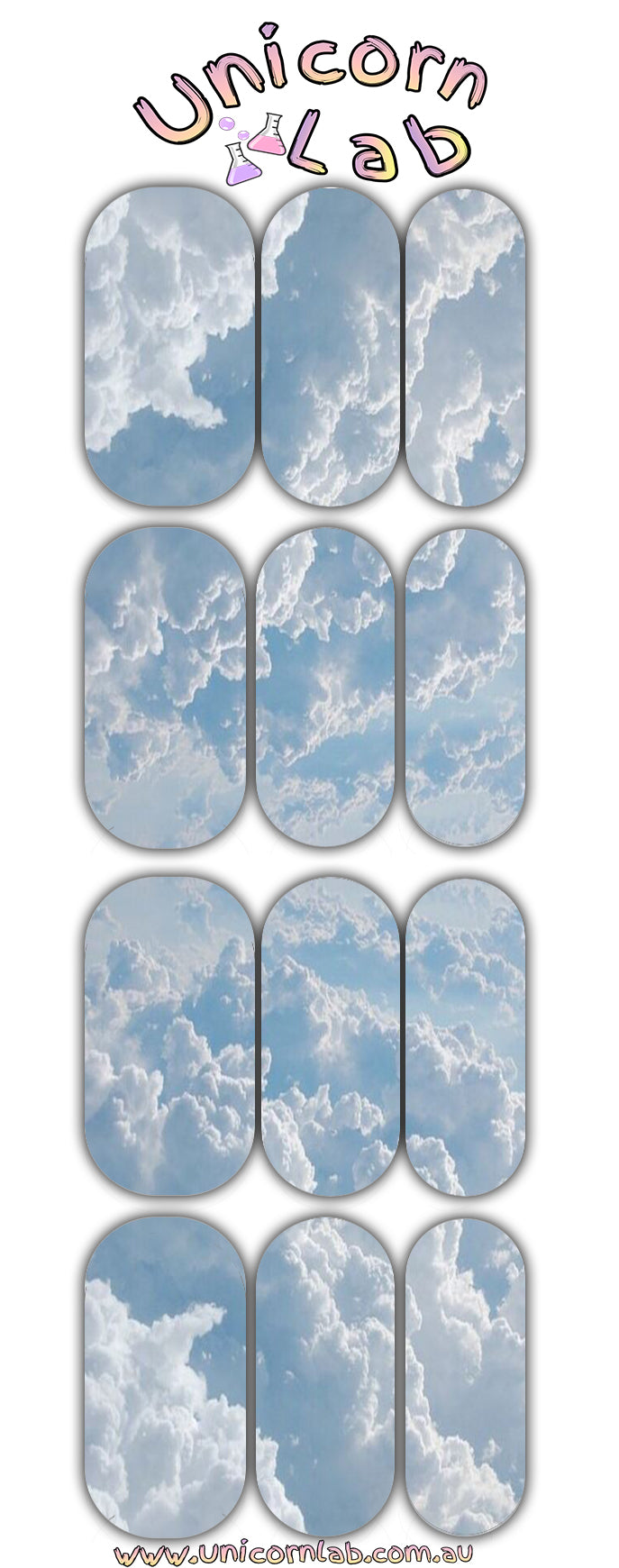 Clouds Waterslide Decals