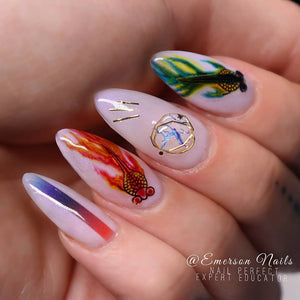 Nail Sticker - Design SH90 - Emerson Crystals