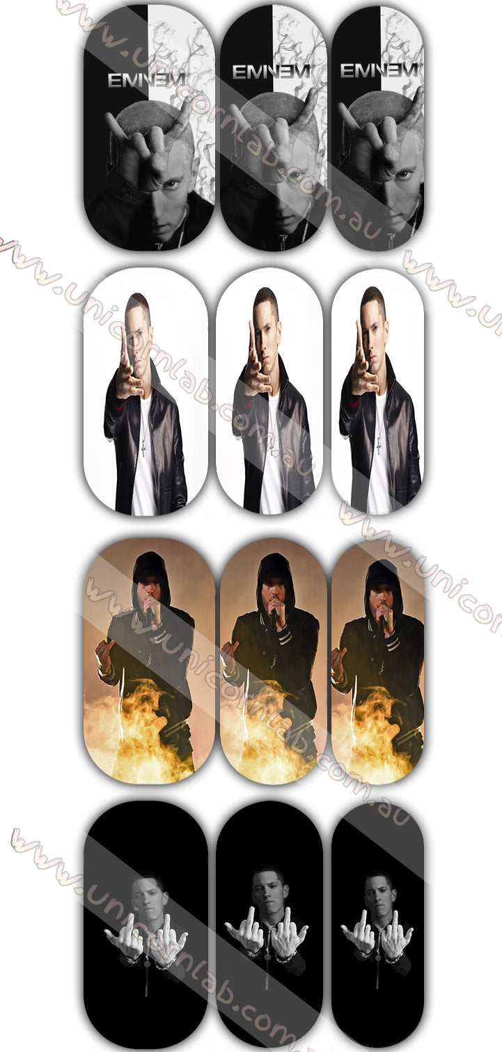 Eminem (new) Waterslide Decals - Emerson Crystals