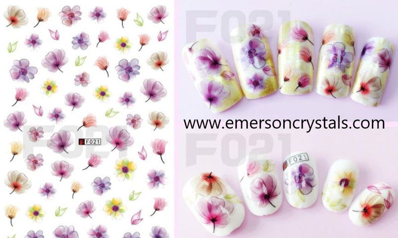 Nail Sticker - Design EC021 - Emerson Crystals
