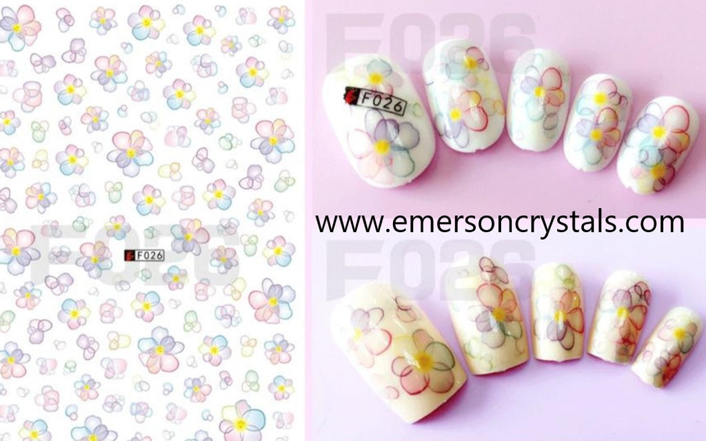 Nail Sticker - Design EC026 - Emerson Crystals