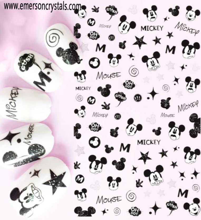 Nail Sticker - Design EC070 - Emerson Crystals