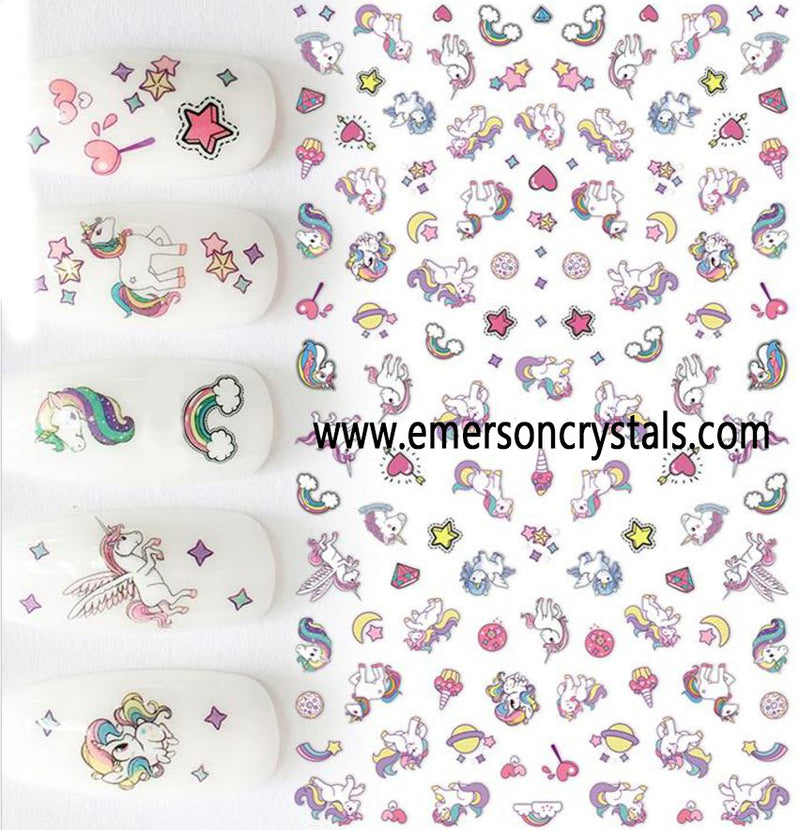 Nail Sticker - Design EC454 - Emerson Crystals