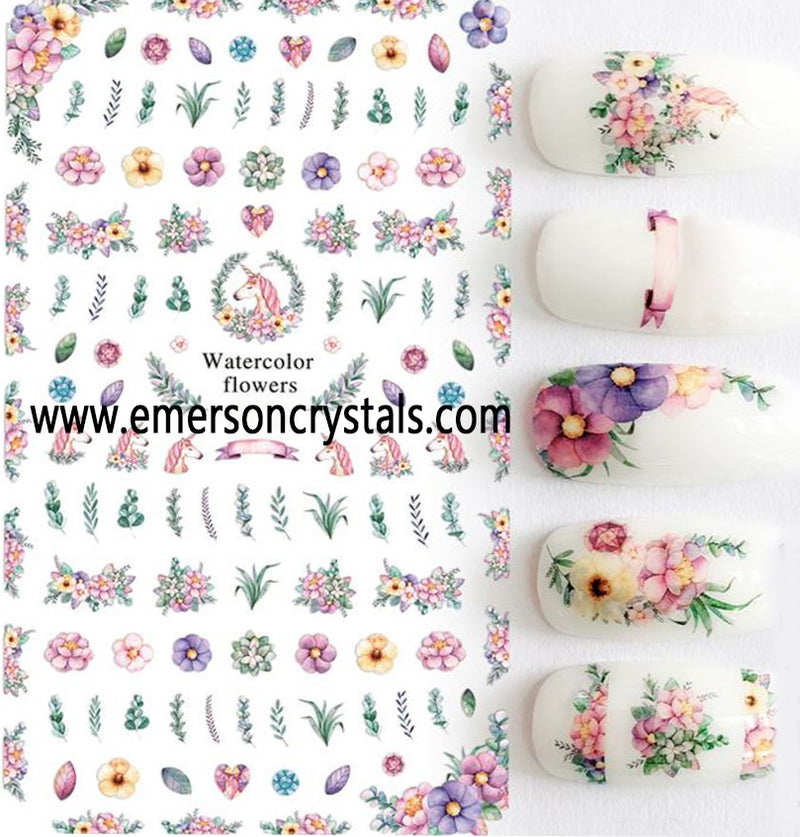 Nail Sticker - Design EC456 - Emerson Crystals