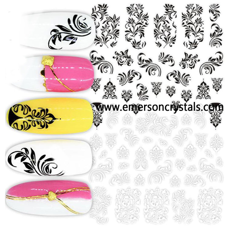 Nail Sticker - Design EC570 - Emerson Crystals