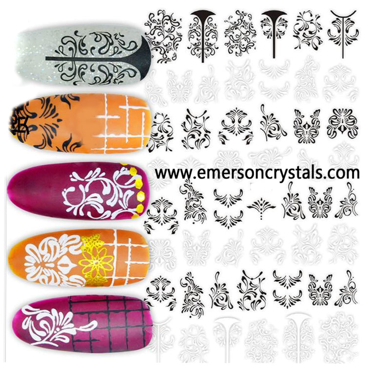 Nail Sticker - Design EC571 - Emerson Crystals
