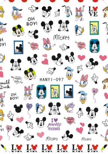 Nail Sticker - Design H97 Mickey Mouse