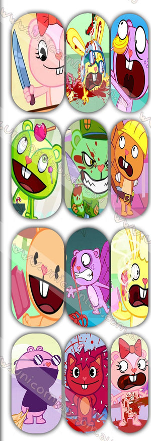 Happy Tree Friends Waterslide Decals - Emerson Crystals