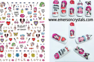 Nail Sticker - Design EHC24 - Emerson Crystals