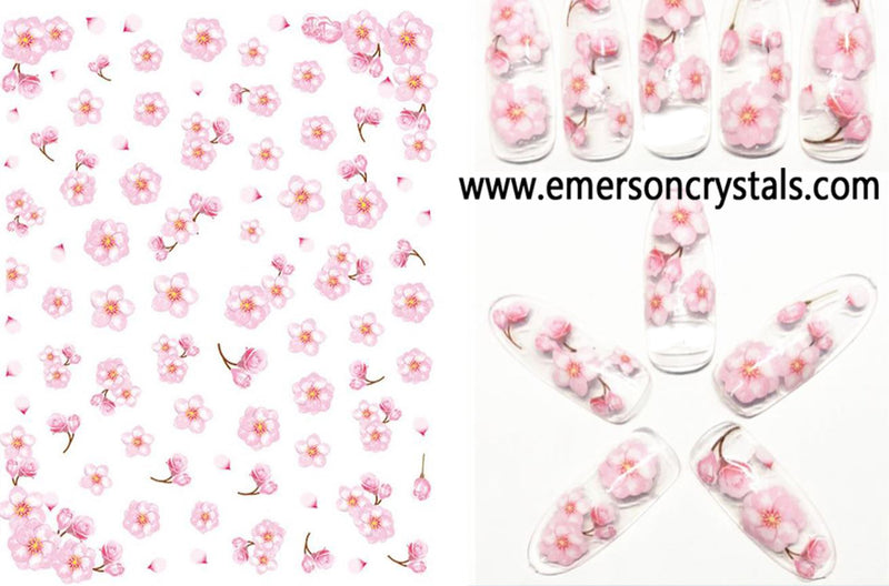 Nail Sticker - Design EHC104 - Emerson Crystals