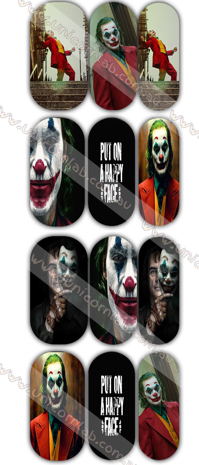 Joker Waterslide Decals - Emerson Crystals
