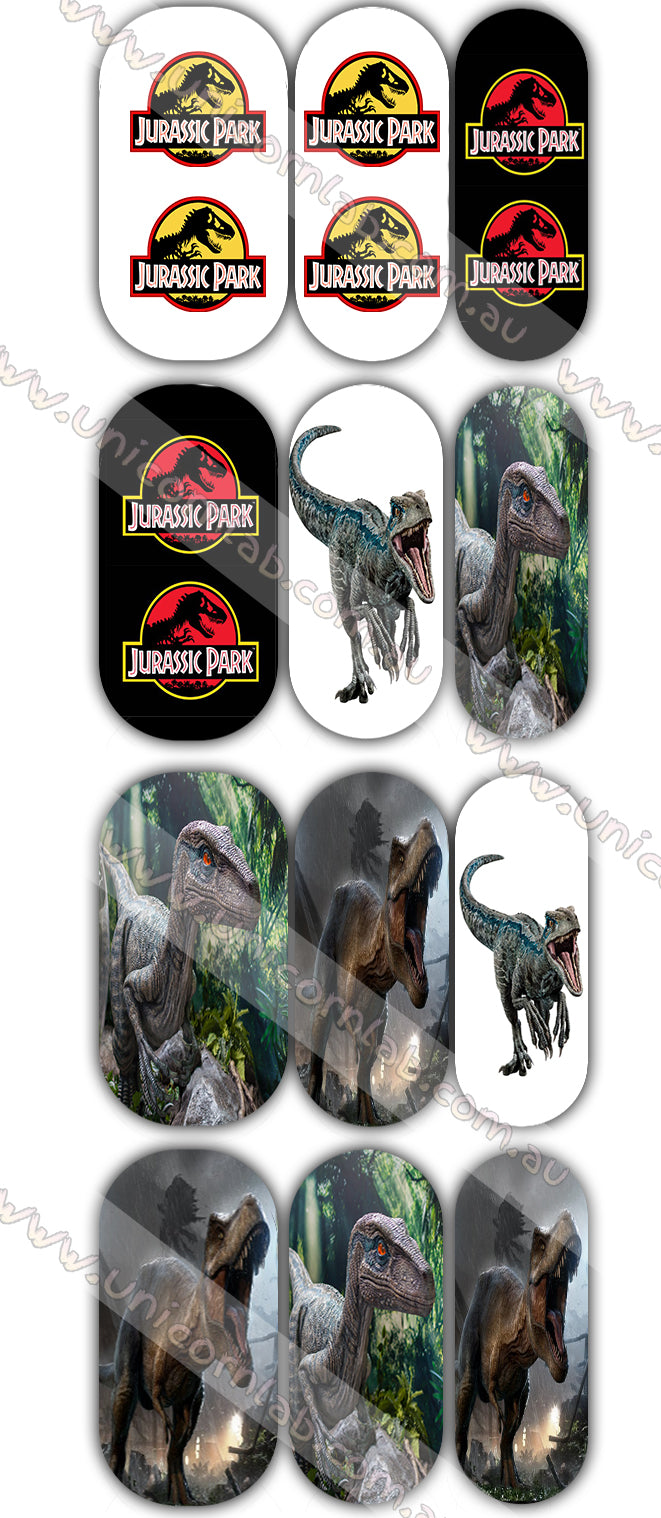 Jurassic Park Waterslide Decals - Emerson Crystals