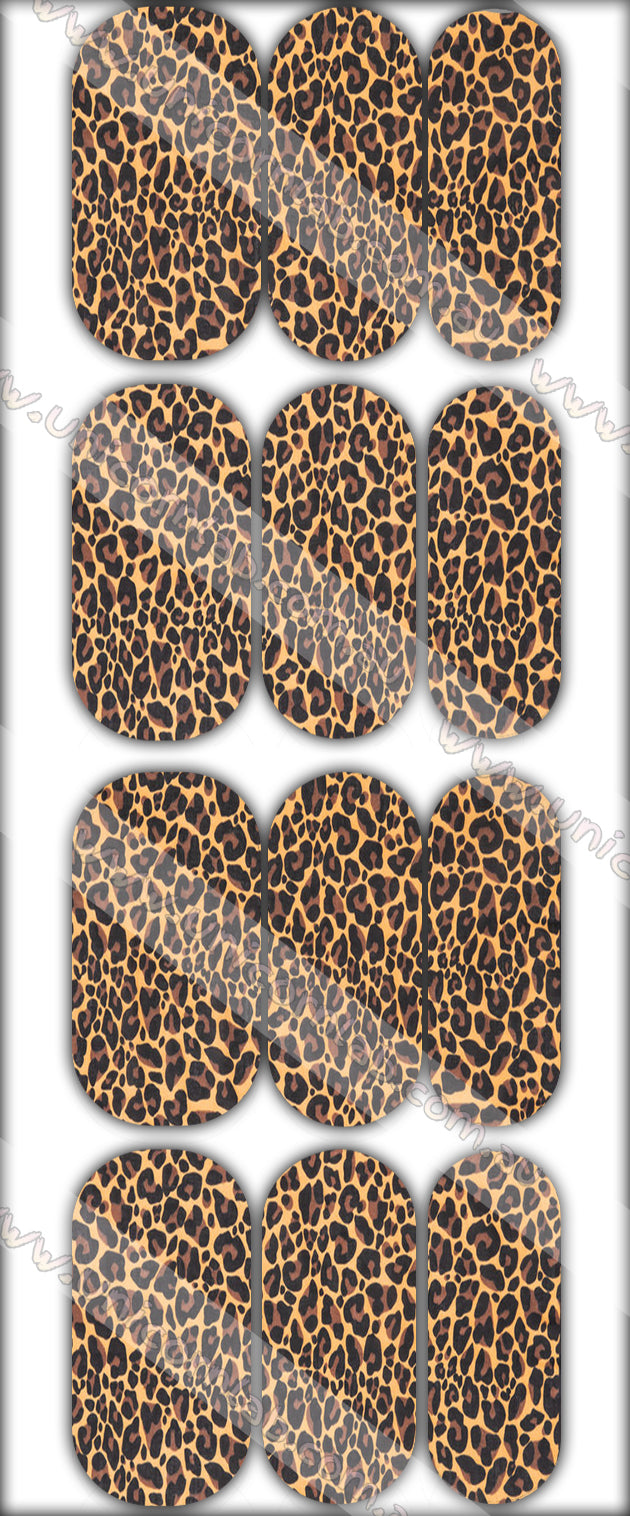 Leopard Print Waterslide Decals - Emerson Crystals