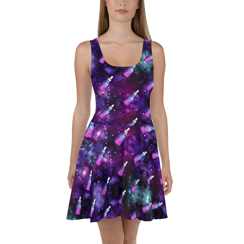 Galaxy Oil Skater Dress - Emerson Crystals