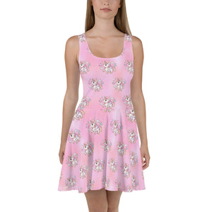 Pink Skater Dress - Emerson Crystals