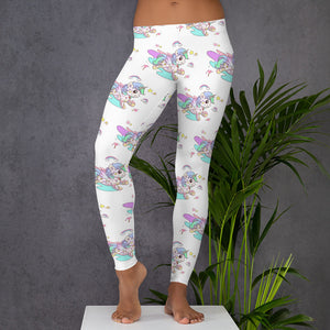 White Tattoo Leggings - Emerson Crystals