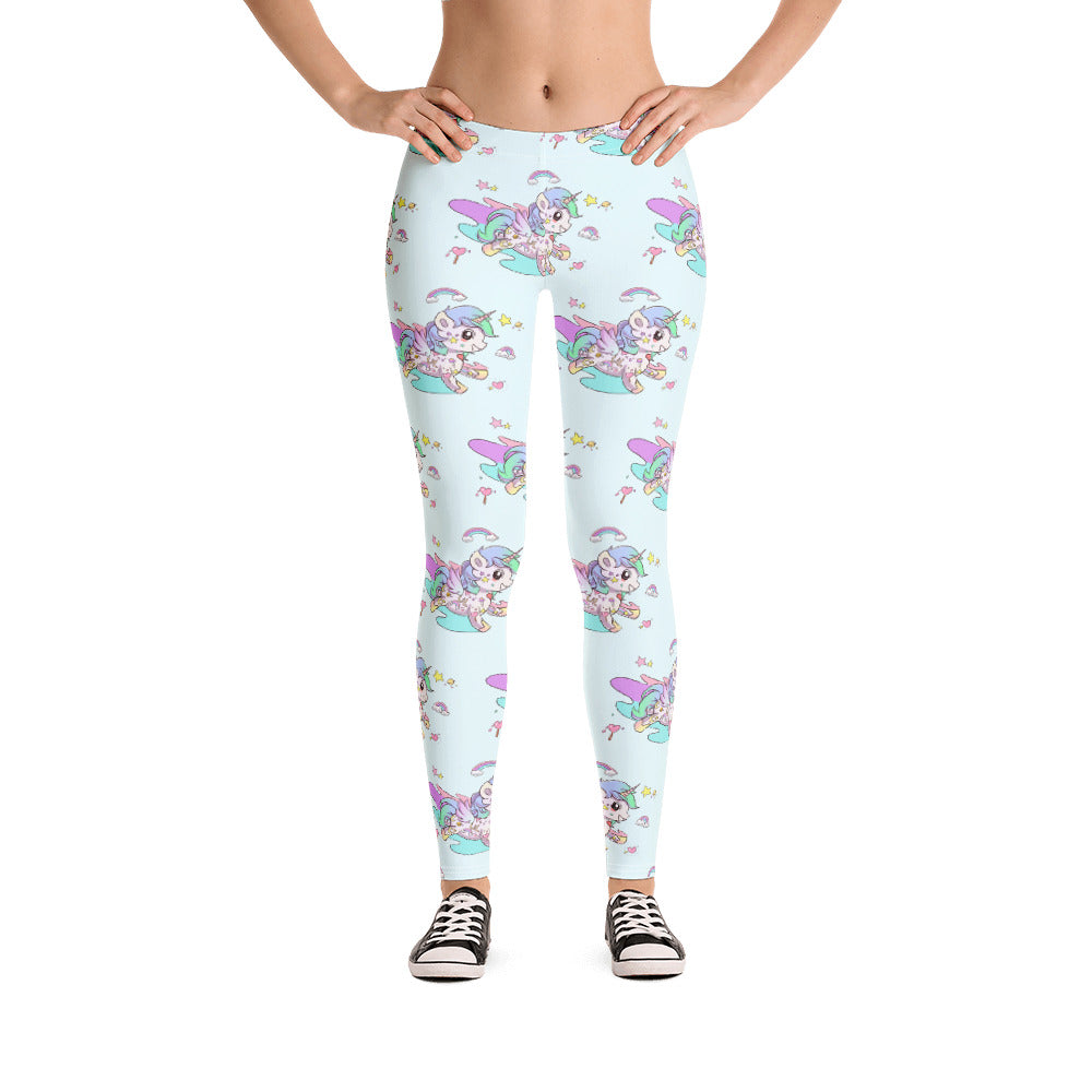 Baby Blue Tattoo Leggings - Emerson Crystals