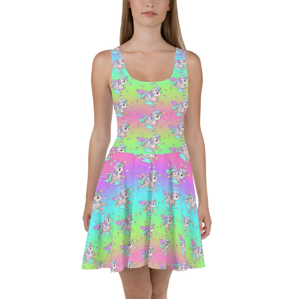 Rainbow Tattoo Skater Dress - Emerson Crystals