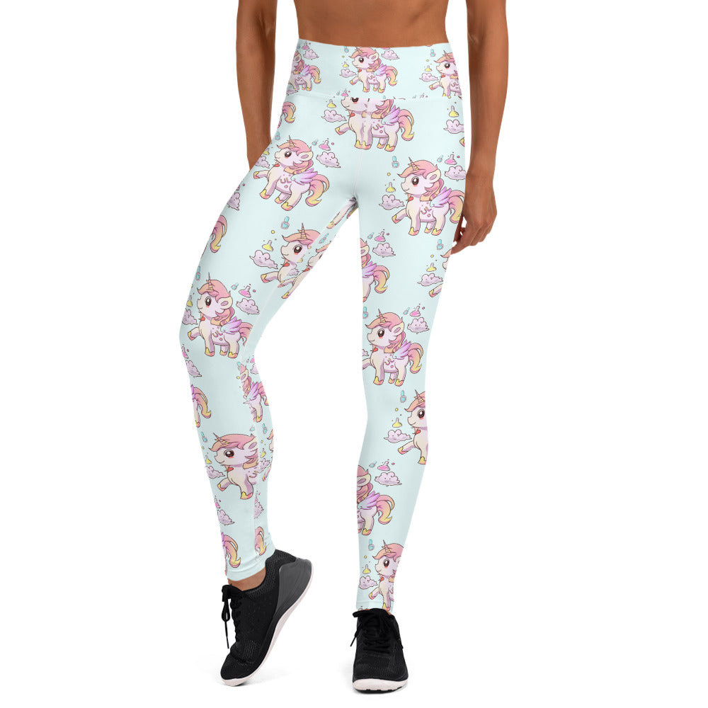 Baby Blue High Waisted Yoga Lulu Leggings - Emerson Crystals