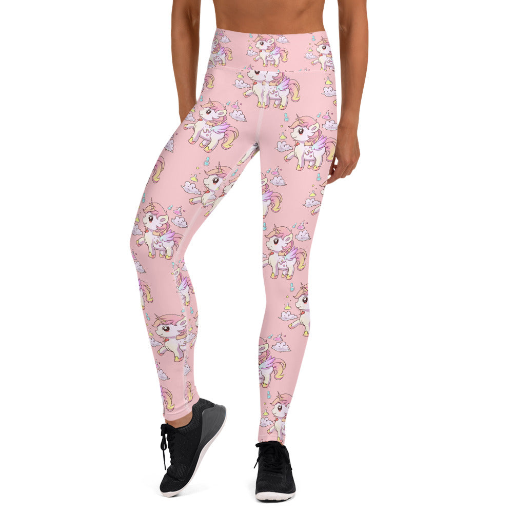 Pink High Waisted Yoga Lulu Leggings - Emerson Crystals