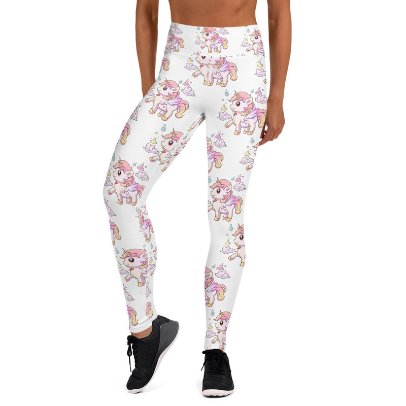 White Yoga High Waisted Lulu Leggings - Emerson Crystals