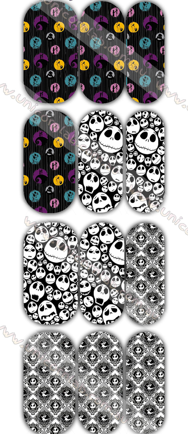 Nightmare before Xmas Design 3 Waterslide Decals