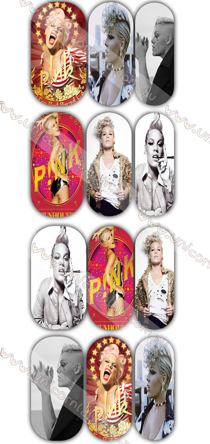 P!nk Waterslide Decals - Emerson Crystals