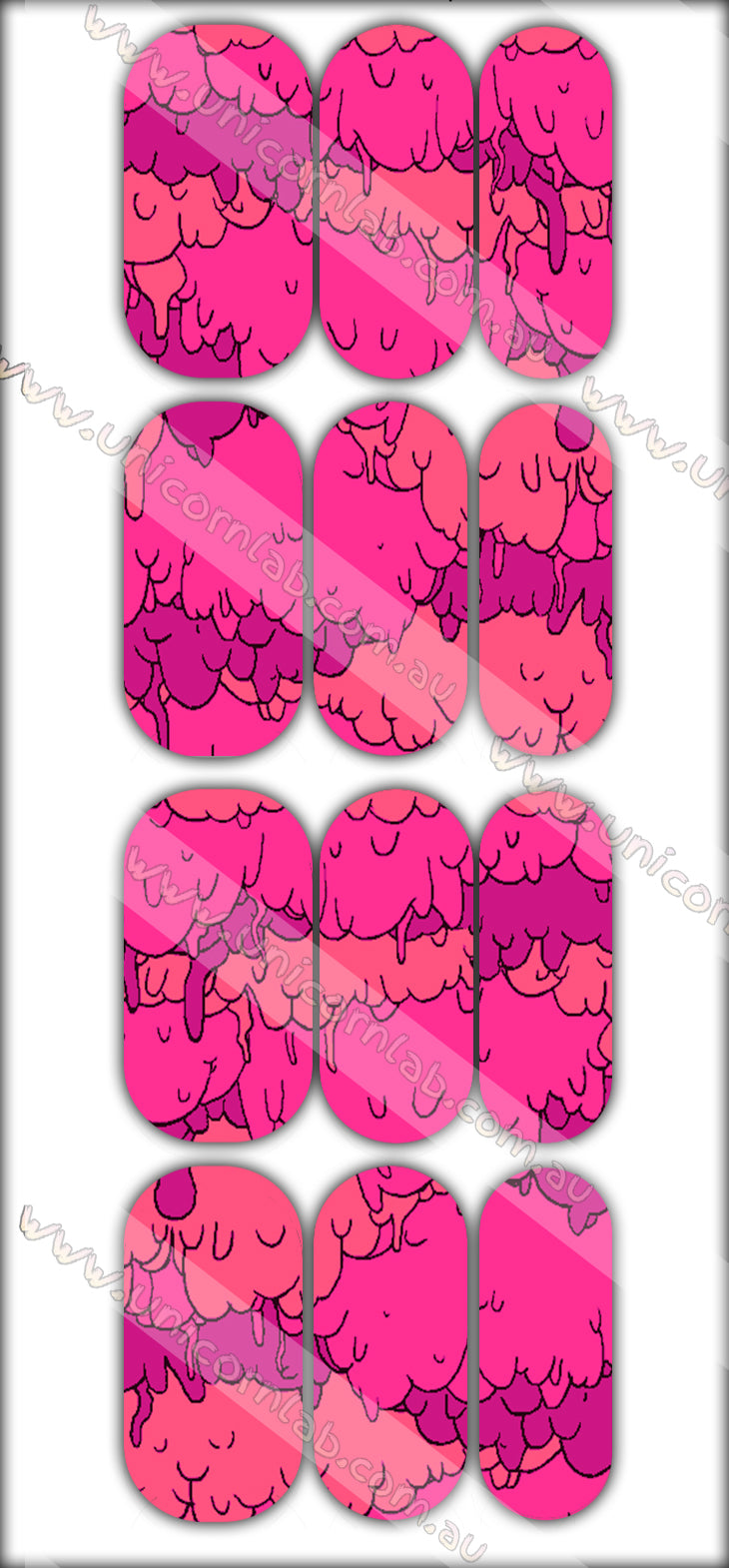 Pink Goo Drip Waterslide Decals - Emerson Crystals