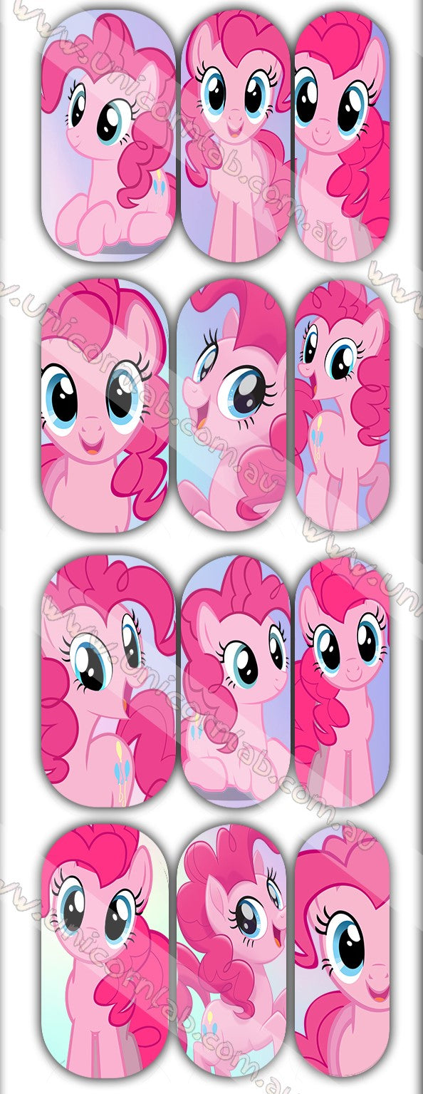 Pinky Pie Waterslide Decals - Emerson Crystals