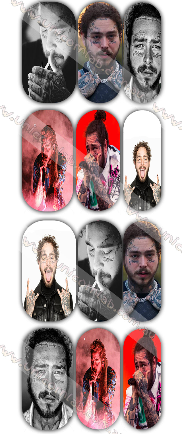 Post Malone Waterslide Decals - Emerson Crystals