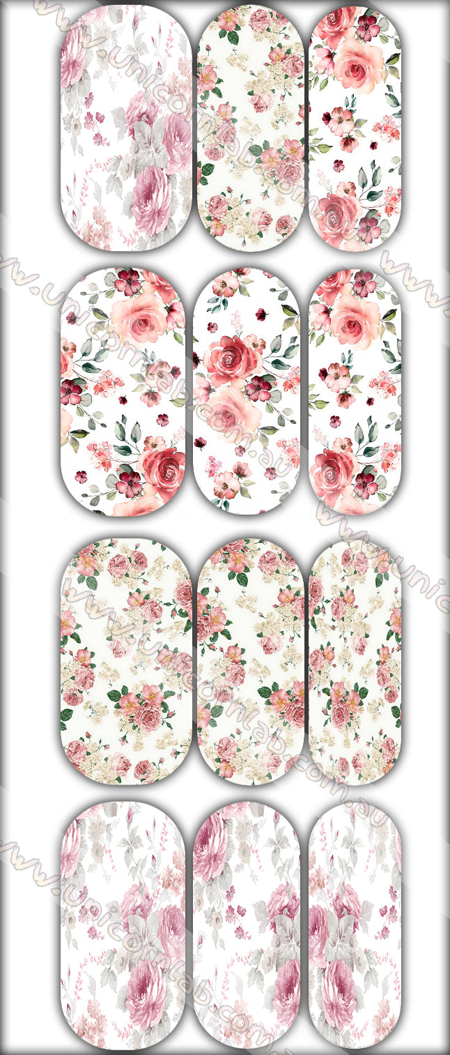 Floral Design 2 Waterslide Decals - Emerson Crystals