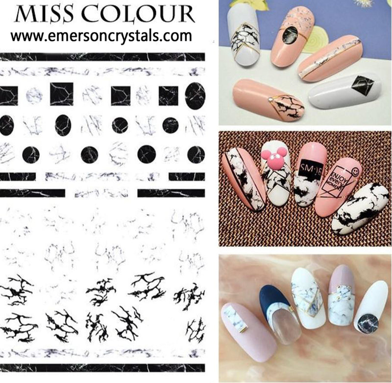 Nail Sticker - Design MC043 - Emerson Crystals