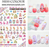Nail Sticker - Design MC078 - Emerson Crystals