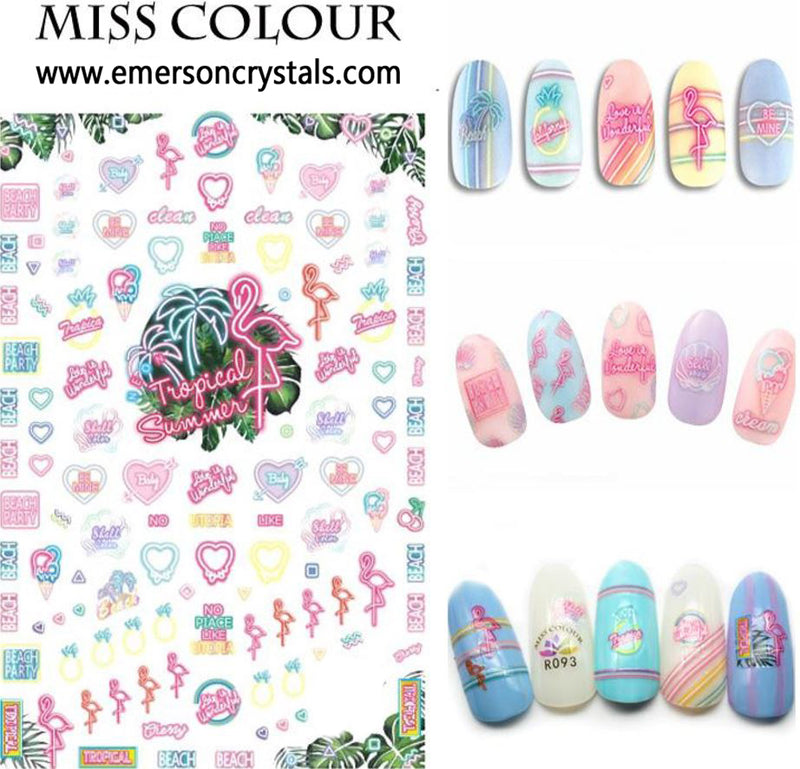 Nail Sticker - Design MC093 - Emerson Crystals