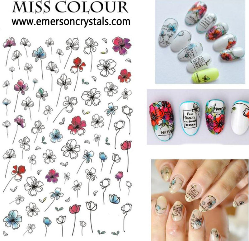 Nail Sticker - Design MC240 - Emerson Crystals