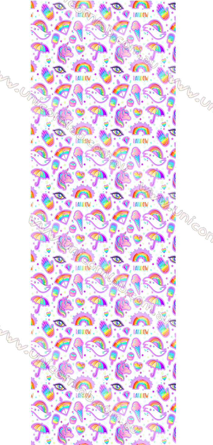 Rainbow Unicorns Waterslide Decals