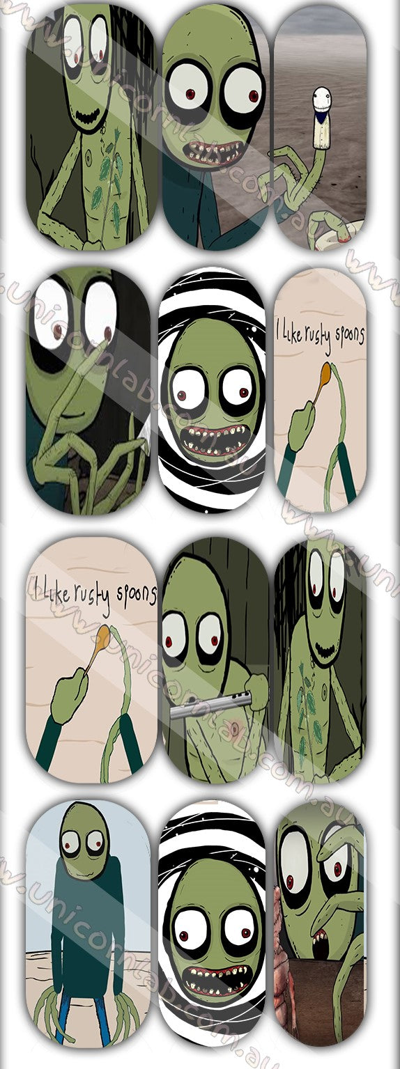 Salad Fingers Waterslide Decals - Emerson Crystals