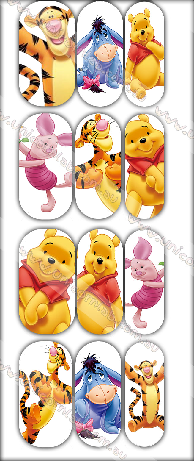 Winnie The Pooh Waterslide Decals - Emerson Crystals
