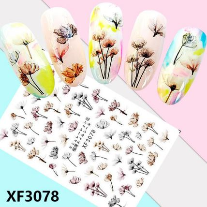 Nail Sticker - Design F3078