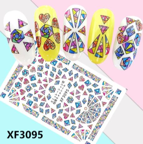 Nail Sticker - Design F3095 - Emerson Crystals